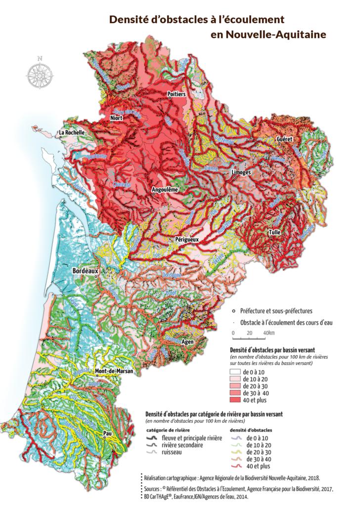 Carte Les usages de l'eau, quelles conséquences ? Nouvelle Aquitaine