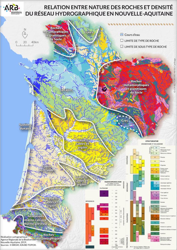 Carte La disponibilité de la ressource Nouvelle Aquitaine